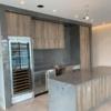 Laminam Pietra Grey Lucidato Porcelain Kitchen and Backsplash
