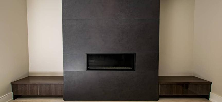 Nero Assaluto Porcelain Fireplace